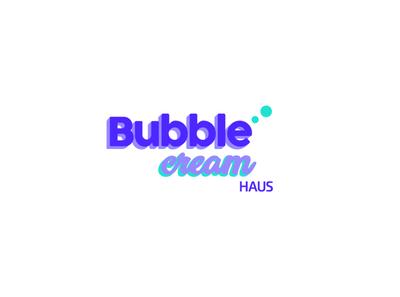 Logotipo Bubble Cream Haus delicious coffee drinks tea frappe smoothie bubbles cream agency design logotype logo brand branding