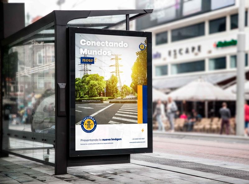 Busstop Constructora Electrica outdoor advertising brand agency postrer construction street billboard busstop electrical design