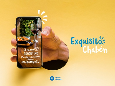 Social media restaurante Argentino en Morelia social media banner phone facebook hamburguesa argentina restaurant branding digital social media design socialmedia branding agency