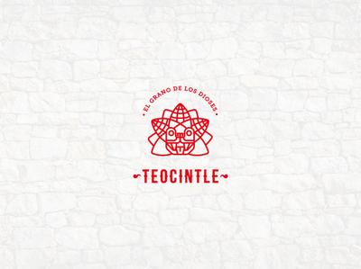 Teocintle logo mexican culture traditional isotipo snacks agency mexican food foodtruck quetzalcoatl corn prehispanic mexico vector minimal icon brand identity branding logo