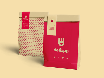 Deliapp - food delivery service brand identity logotype creative icon logo branding delivery app delivery food apps food app food