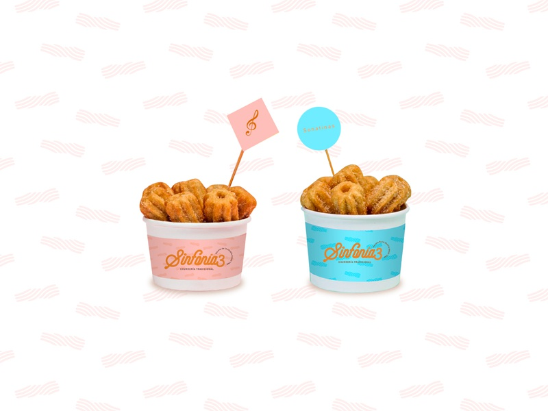 Paper cup design food creative brand identity branding pattern mexican snack music churros agency print design packaging paper cup