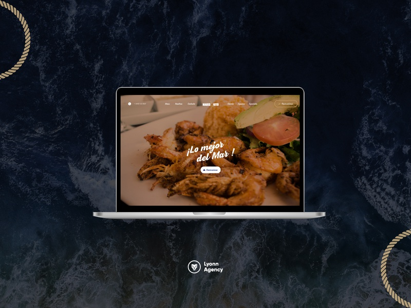 Web site Marisquito seafood development responsive css homepage reservations site web design agency website sea shrimp beach restaurant sea kitchen seafood ui  ux web