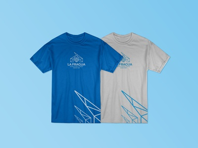 T-Shirt design La Fragua construction steel creative brand identity icon crane tshirt brand logo design