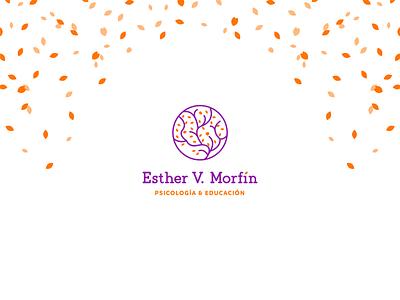 Logotipe Esther V. Morfín logotype brand identity education colorfull creative desing therapist therapy psychologist psychology icon logo branding