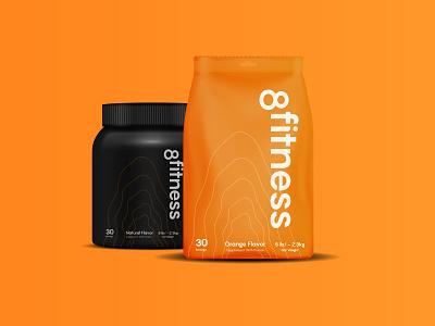 8fitness Brand vector creative minimal design logotype healthy gym strength strong brave orange branding brand identity packaging sport fitness