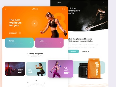 8fitness Web Design logotype brand minimal sport athletic nutrition gym coach fitness ux design ui ux web design website