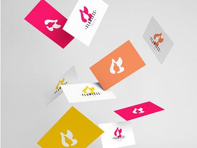 Esthetic logo desgin Flawless business card icon beauty hair woman flawless esthetic