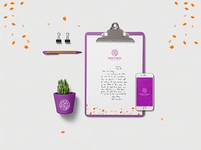 Branding Psychology Esther Morfín minimal tree leaf mind therapist psychology creative icon brand identity design