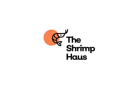 The Shrimp Haus Logo brand icon logo minimal design sea animal branding seafood haus shrimp logotype