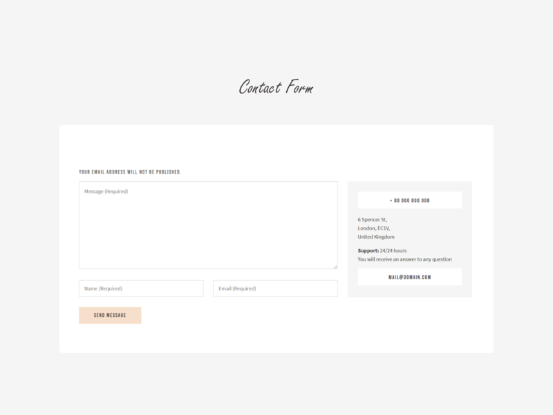 Contact Form contact us form contact contact form