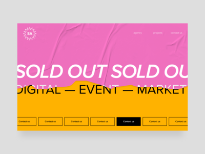 Digital event promotion agency — main page