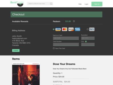 DailyUI #02 BandTrader Checkout screen