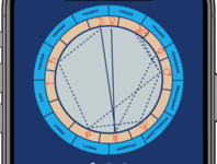 Astrology birth chart calculator screen close-up