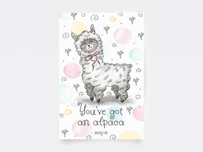 Postcard — Alpaca