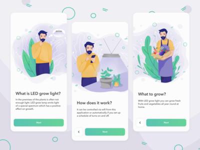 LED Grow Light App onboarding