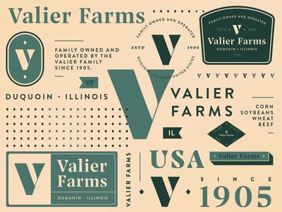 Valier Farms Branding