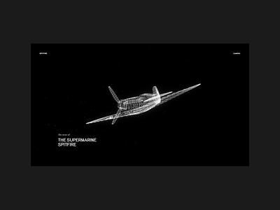 Supermarine Spitfire mobile web website design minimal animation 3d threejs grid webdesign typography layout interface interaction ui