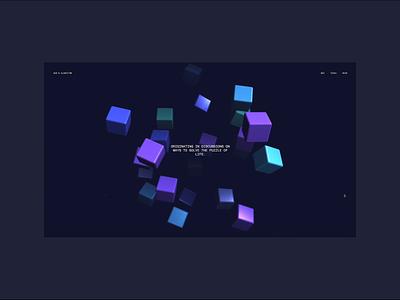Sean Leon - God's ALGORITHM [V1.0] interactive landing scroll experience transition grid minimal threejs animation webdesign layout interface interaction webgl ui typography