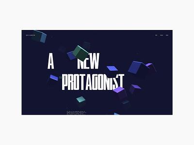 Sean Leon - God's ALGORITHM [V1.0] webgl 3d threejs design layout webdesign ui typography minimal interface interaction