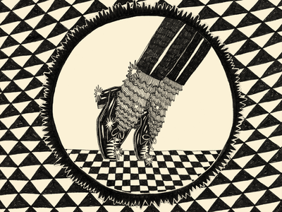 Footwork dancing illustration motion drawing micron