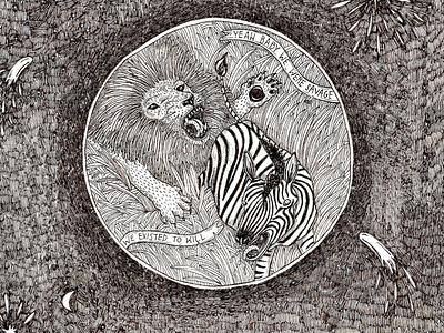 PureHoney Magazine design drawing animals micron illustration humor comic