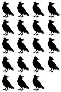Corvid-19 black and white silhouette crown humor raven crows covid-19 covid coronavirus corvid funny cute horror merchandise merch line art graphic design design illustration cartoon