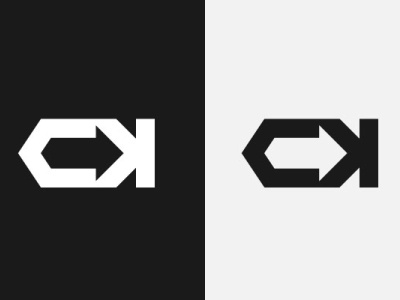 Logo Letter CK Monogram Icon + Arrow monogram icon letter ck logo