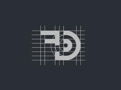 Logo FD geometric concept best fashion logo simple letter fd icon monogram