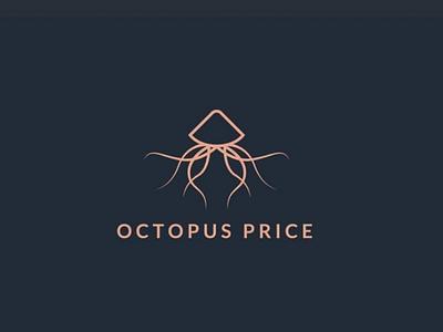 Logo Octopus premium simple abstract monogram line logo octopus