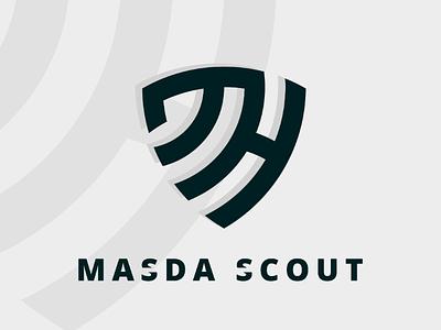 Shield letter MH logo ai illustrator mh logo initial simple icon shield monogram logo mh