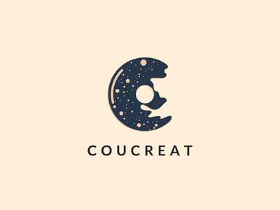 Logo Letter C mount donut c icon monogram letter c logo