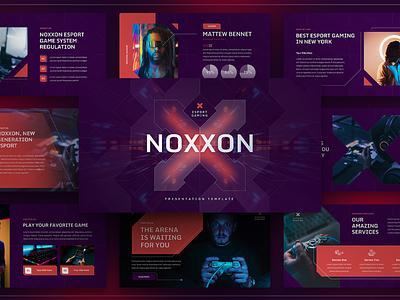 Noxxon – Esport & Gaming Presentation Template company slides deck presentation powerpoint portfolio player photography modern gaming game event e-sport creative corporate business agency