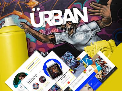 Urban - Graffiti & Pop Art Presentation Template company professional slides modern presentation powerpoint portfolio pop graffiti design creative colorful business artist art agency