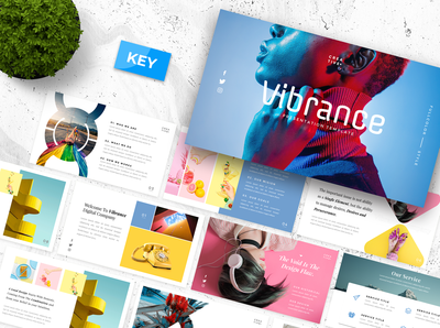 Vibrance Creative Keynote Presentation Template