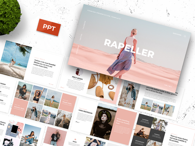 Rapeller Powerpoint Template streetwear sneakers presentation pptx powerpoint makeup lifestyle hypebeast fashion creative company clothing business beauty artist