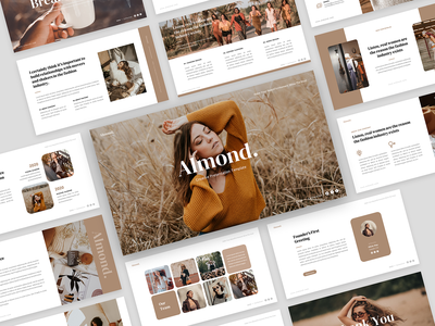 Almond - Creative PowerPoint Template proposal presentation template powerpoint template powerpoint portofolio photography marketing lookbook infographic fashion education creative studio creative corporate clean business presentation annual report analysis agency advertisement