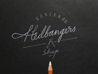 Logo concept for Hedbangers