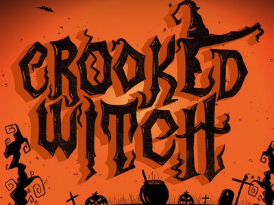 Hand Lettering on Procreate crooked witch witch modern calligraphy calligraphy illustration halloween typography procreate lettering handlettering