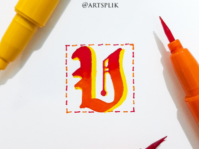 Lettering within an inch typography alphabet lettering modern calligraphy calligraphy