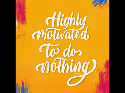 Everyday Mood handlettering oil painting adobe fresco lettering calligraphy typography