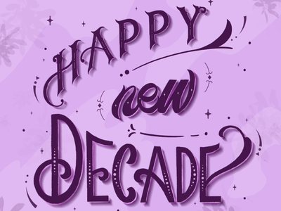 The 2020s are here! procreate hand lettering lettering modern calligraphy new year new year 2020 typography