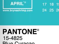 Pantone 2011 Calendar, April