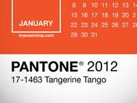 Pantone 2012 Lock Screen Calendar
