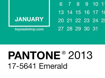 Pantone 2013 Lock Screen Calendar