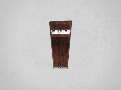 Lonely Piano illustration piano instrument wacky small grunge