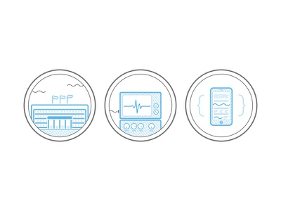 Icons for a healthcare data solution icons health care health simple lines vector