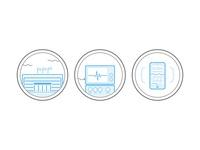Icons for a healthcare data solution