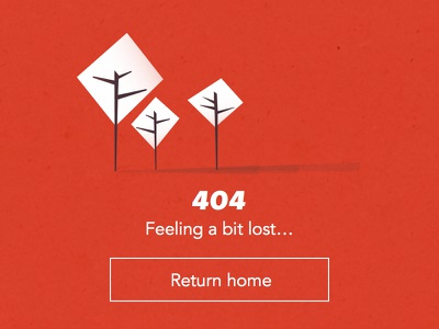 404 - Concept 404 lost illustration tree red pattern