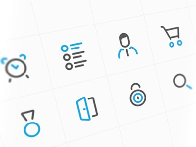 Icons for new project ux ui marketing crm commerce icons